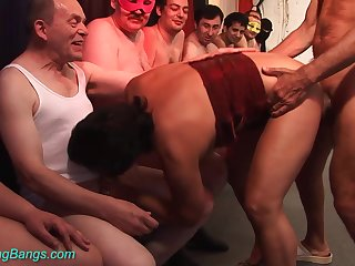 Oversexed 70 years old mom primary gangbang orgy