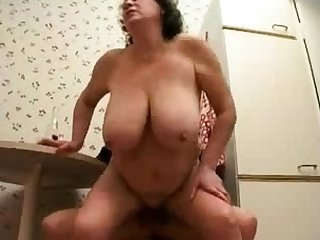 Russian mature wife cheating with young gay blade