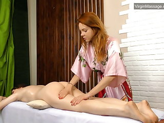 Szilvia a fresh babe wean away from Hungary massaged