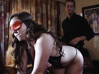 Acting reverberate on masked babe's ass after insane porn