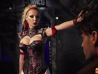 Dominant mistress wants the cock concerning both their way wet holes