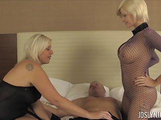 Wild dominant whore Joslyn James enjoys hardcore MFF threesome