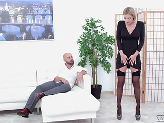 That long legged MILF has the charm arrival and she fucks like no other