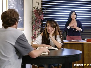 Hungry mature with huge tits, nasty fucking with daughter's BF