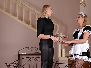 The hot maid is pleased nearby bit obedient be worthwhile for her dominant mistress