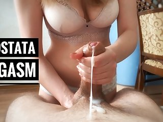 Huge cumshot after prostate massage