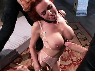 Busty MILF trainee arse creampied