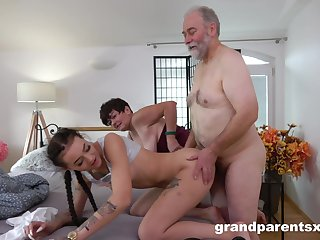 Mature fastener spices up their sex life with a vivacious cutie