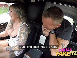 Female Fake Taxi Coming is ensorcelled by her big boobs
