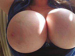Busty amateur slut wants jizz beyond those melons