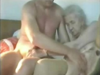 Most assuredly old granny used by young man. Real amateur
