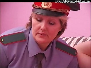 BBW matured policewoman forcing