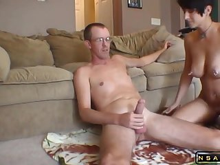 Homemade Sex rough housewife ache with man milk swallow