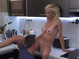 Granny decides to try a career in the porn matter for the first lifetime