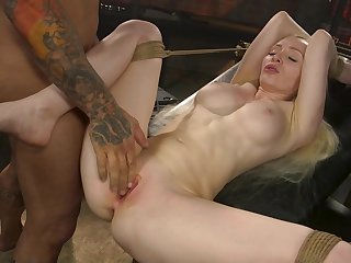 Deep pussy bondage dealings for the obedient blonde whore