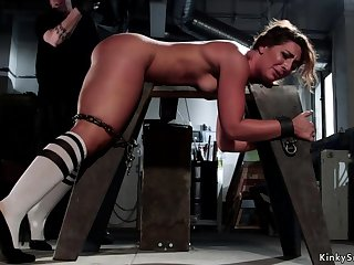 Chunky depths slave is hard whipped