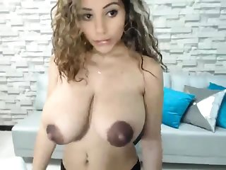Amazing huge boobs blonde Niley Hott teasing on cam