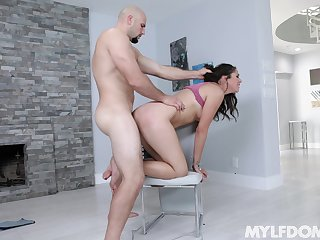 Tied up petite Anna Morna rough fucked by a large white dick
