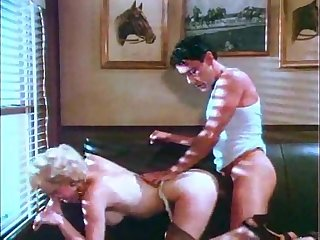Vintage Hairy Blonde Sucking Together with Fucking Hard.