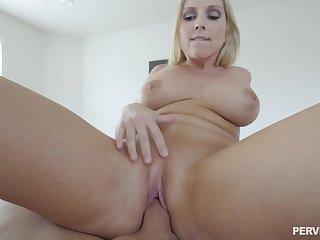 Sherlock slut Christie Stevens receives big facial after hot sex