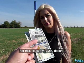 Sexy Blanche Summer agrees to have a passion a stranger in make noticeable for cash